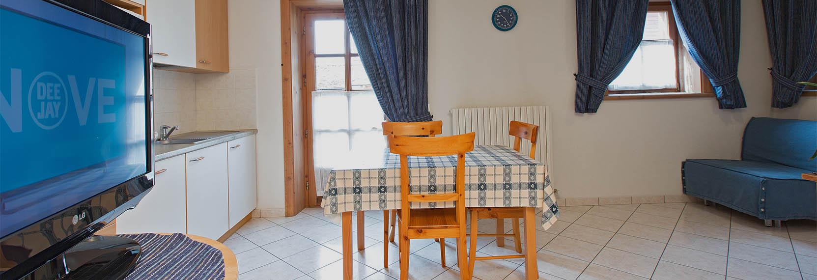 Monolocale Azzurro per vacanze a Livigno