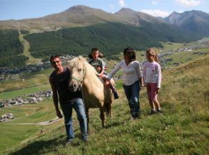 Escursioni a cavalli a Livigno